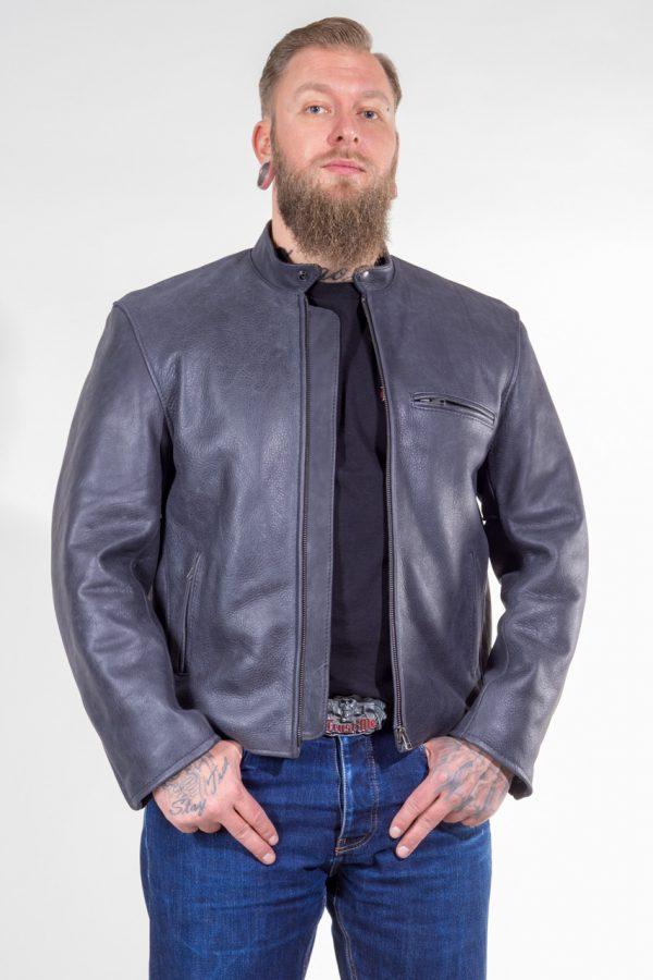 Lederjacke Nashville aus Rindleder Farbe: anthrazit