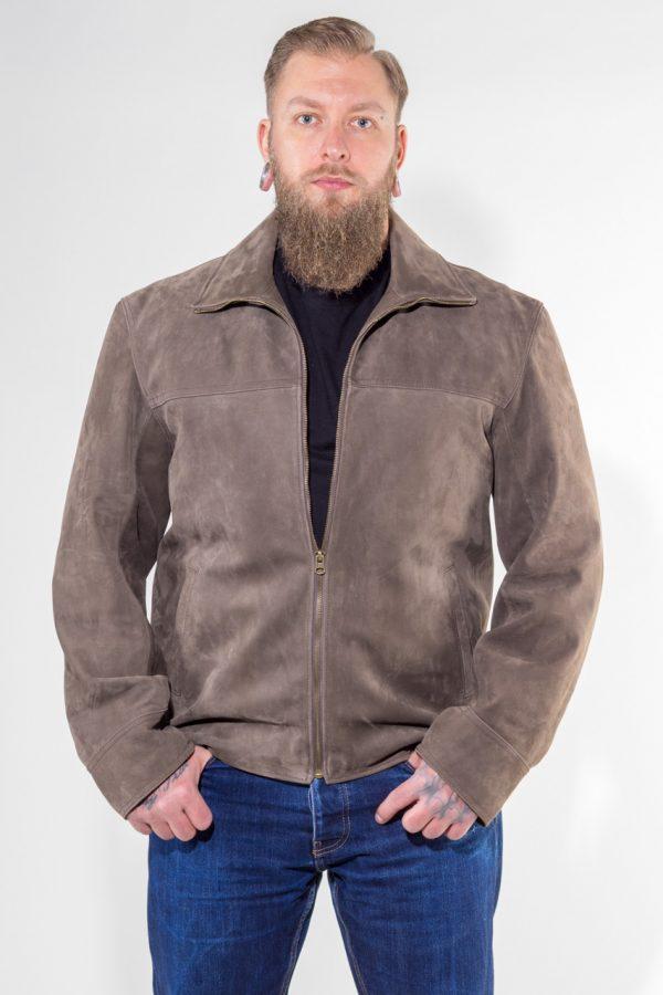 Lederjacke Texas aus Nubukleder Farbe: braun